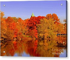 Fall On Mystic Lake Acrylic Print