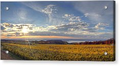 Fall On Old Mission Peninsula Acrylic Print by Twenty Two North Photography