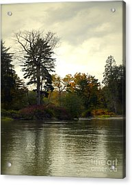 Fall On The Snohomish River Acrylic Print