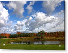 Fall Pond Acrylic Print by Kevin Schrader
