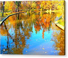 Fall Reflections Acrylic Print by Ana Maria Edulescu