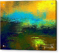 Acrylic Print featuring the digital art Fall Reflections by Dale   Ford