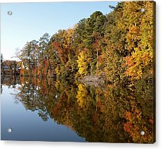 Fall Reflections Acrylic Print by Larry Krussel