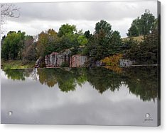 Fall Scene At Split Rock State Park Acrylic Print