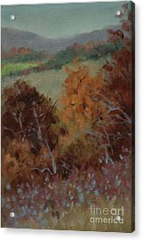 Fall Scene Acrylic Print by Linda Eades Blackburn