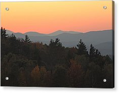 Acrylic Print featuring the photograph Fall Sky At Sunset by Robin Regan