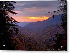 Fall Sunset Acrylic Print by Charles Warren