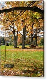 Fall Swing Acrylic Print by Jennifer Compton