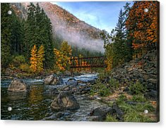 Fall Up The Tumwater Acrylic Print