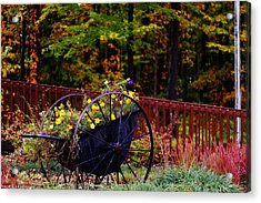 Fall Wagon Acrylic Print by Kevin Schrader