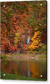 Fall Waterfall Acrylic Print by Kevin Schrader