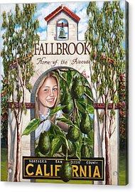 Fallbrook Avos Acrylic Print by Lisa Reinhardt