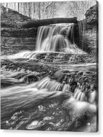 Acrylic Print featuring the photograph Fallen Bridge by Coby Cooper