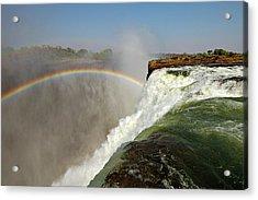 Falling Down  Falls, Zambia Acrylic Print by © Pascal Boegli