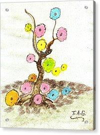 Falling Flowers Acrylic Print