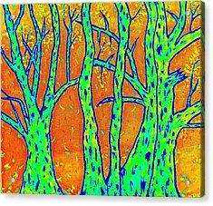 Falling Leaves Invert Acrylic Print