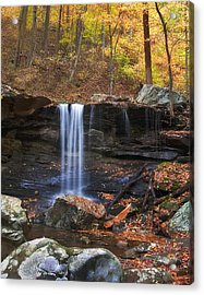 Falls At Frozen Head Acrylic Print by Charles Fletcher