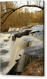 Falls At Old Stone Fort Acrylic Print by Michael Flood
