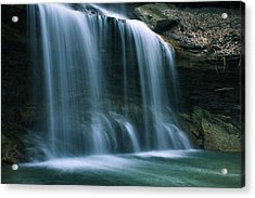 Falls Bottom Acrylic Print by Michelle Joseph-Long
