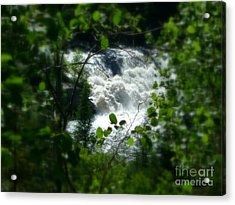 Falls In Forest Frame Acrylic Print by Art Studio