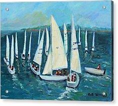 Falmouth Regatta Acrylic Print by Rita Brown
