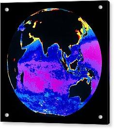 False Colour Image Of The Indian Ocean Acrylic Print by Dr Gene Feldman, Nasa Gsfc