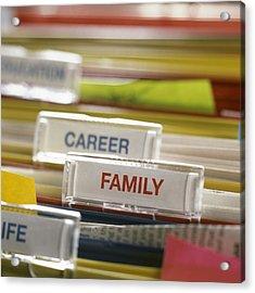 Family Before Career Acrylic Print by Tek Image