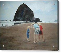 Family By The Sea Acrylic Print
