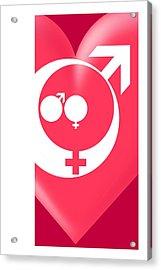 Family Gender And Love Symbols Acrylic Print by Detlev Van Ravenswaay