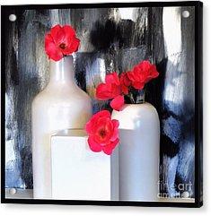 Family Of Roses Acrylic Print by Marsha Heiken