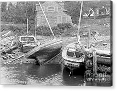 Family Wharf At Kittery Point In Maine 1900 Acrylic Print by Padre Art