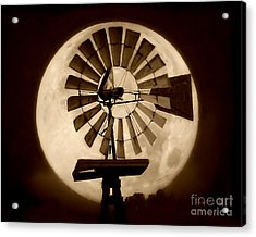 Fan In The Moon Acrylic Print