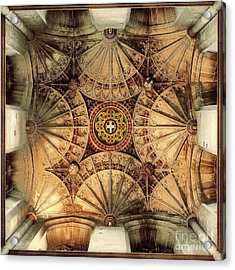 Fan Vaulting Canterbury Cathedral Acrylic Print by Jack Torcello