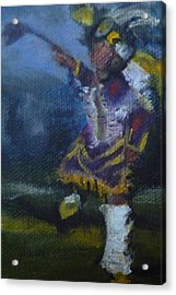 Acrylic Print featuring the painting Fancy Dancer Long Beach Pow Wow by Jessmyne Stephenson