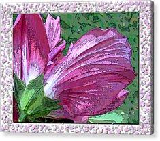 Acrylic Print featuring the digital art Fancy Finish by Debbie Portwood