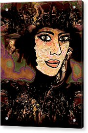 Fancy Hat Acrylic Print by Natalie Holland