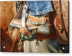 Fancy Horse Tack At A Show Acrylic Print by Jennifer Holcombe