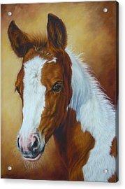 Fancy Portrait Acrylic Print by Margaret Stockdale