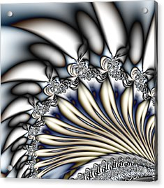 Fanfare - An Abstract Fractal Design Acrylic Print by Gina Lee Manley