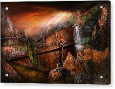 Fantasy - Ship Wrecked Acrylic Print by Mike Savad