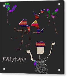 Acrylic Print featuring the digital art Fantasy by Asok Mukhopadhyay