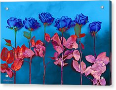 Fantasy Blues Acrylic Print by Michelle Wiarda