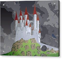 Fantasy Castle Acrylic Print by Rod Jones