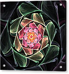 Fantasy Floral Expression 111311 Acrylic Print by David Lane