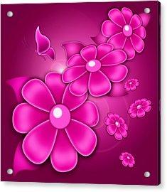 Fantasy Floral Acrylic Print