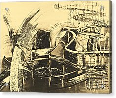 Fantasy In Monotone Acrylic Print by Emilio Lovisa