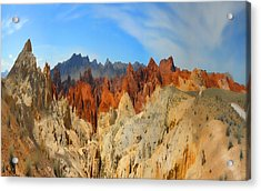 Acrylic Print featuring the photograph Fantasy Mountains by Gregory Scott