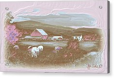 Farm   In Pink Acrylic Print