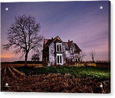 Farm House At Night Acrylic Print by Cale Best