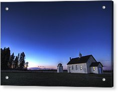 Farm House In Field At Sunset, Fort Acrylic Print by Dan Jurak